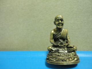 Lp Chuan Buddha Statue Good Luck Safe Charm Thai Amulet Pendant photo