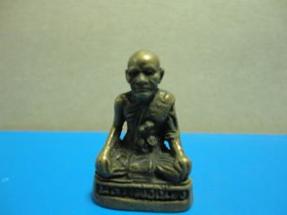 Lp Nuang Buddha Statue Good Luck Safe Charm Thai Amulet Pendant photo