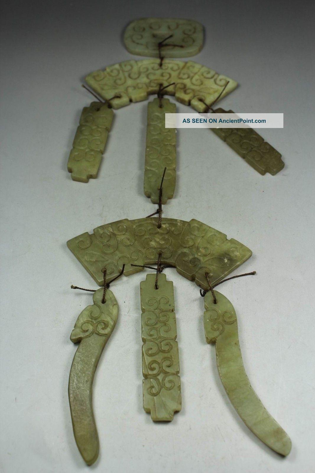 Chinese Handwork Carving Old Jade Aeolian Bells Decoration Uncategorized photo