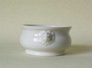 A Chinese Porcelain Dehua Blanc De Chine Censer 17th/18th Century photo