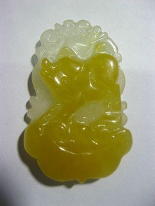 100% Natural Chinese Yellow Jade Pig Pendant /one Of Twelve Animal Netsuke photo
