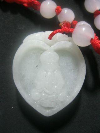 100% Natural Chinese A Grade Jade Pendant /beauty Kwan - Yin Pendant photo