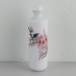 Chinese Magpie & Flower Painting Porcelain Snuff Bottle 006 photo