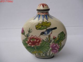 China Ceramics Snuff Bottle,  Flowers And Birds Map, photo