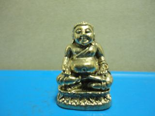 Happy Buddha Wealth Rich Lucky Charm Thai Amulet photo
