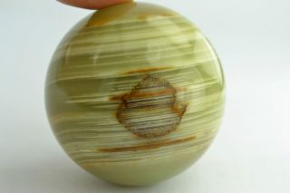 China Rare Collectibles Old Jade Handwork Burnish Ball Wonderful Statue photo