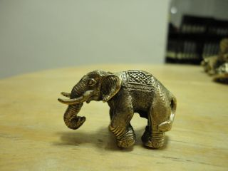 Wealth Elephant Rich Lucky Business Charm Thai Amulet photo