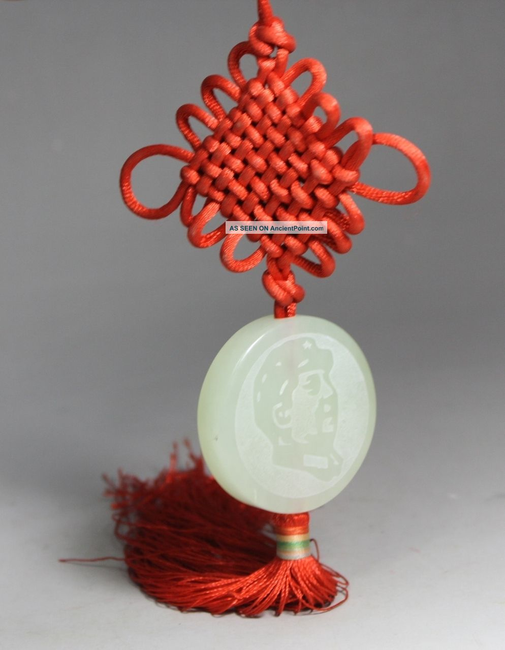 Chinese Arts Jade/ String Handwork Chinese Knot Chairman Mao Pendant Decoration Uncategorized photo