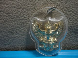 Garuda King Honor Respect Lucky Charm Thai Amulet Pendant photo