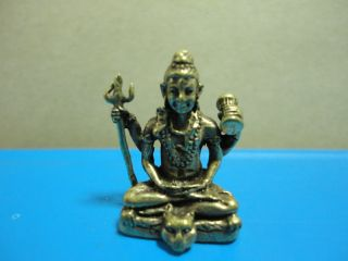 Shiva Destroyer Powerful Lucky Hindu Charm Thai Amulet photo
