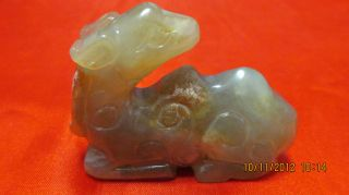 Fancy Gift Chinese Jade Statue Sheep Design Holiday Sales photo