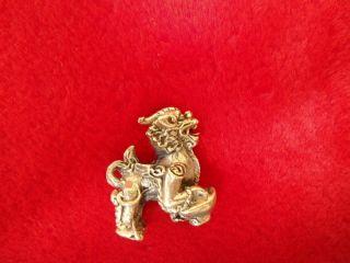 Pi - Yao Thai Amulet Takrud Bronze An Animal Sacred Good Luck Keep Money photo