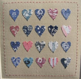 ' Laura Ashley Hearts ' Designed & Stitched By Helen Drewett,  Collectable photo