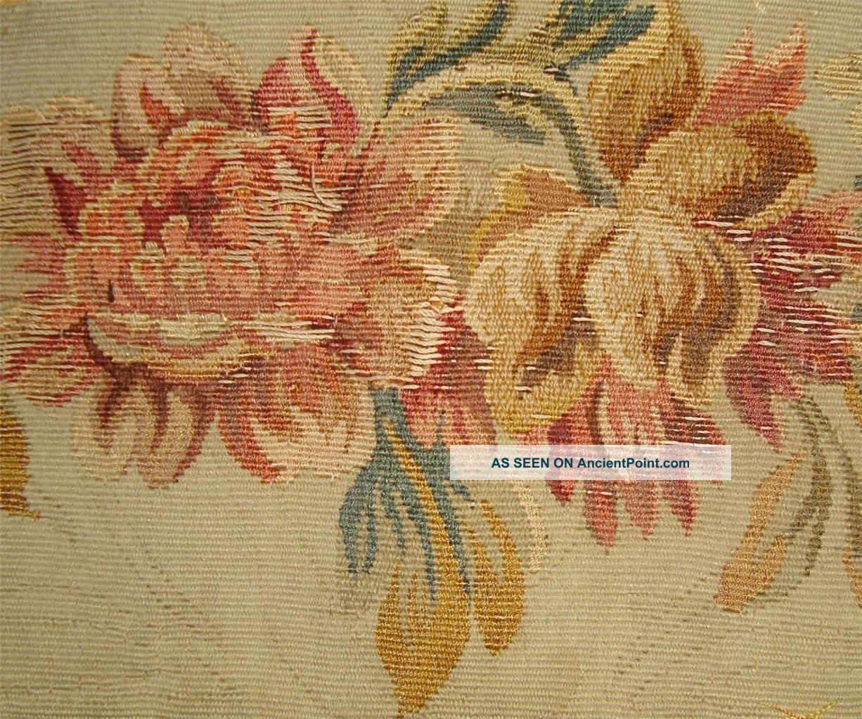 Small Fragment Lovely 19thc French Aubusson Tapestry C Tapestries photo