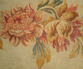 Small Fragment Lovely 19thc French Aubusson Tapestry C photo