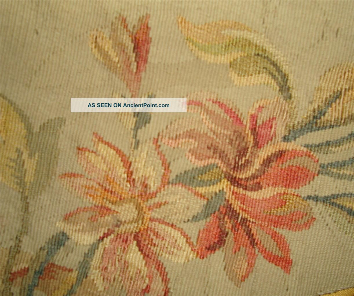 Small Fragment Lovely 19thc French Aubusson Tapestry A Other photo