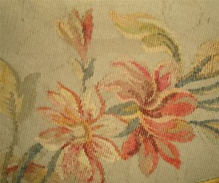 Small Fragment Lovely 19thc French Aubusson Tapestry A photo