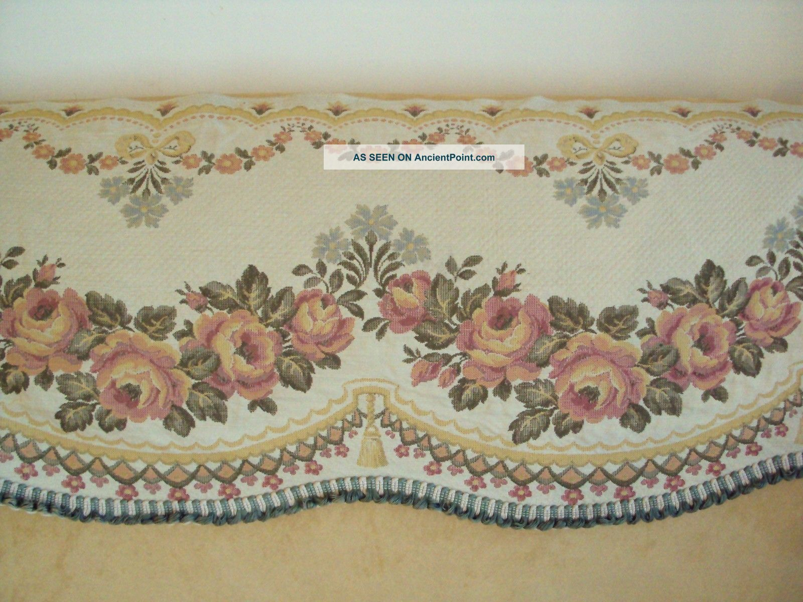 Vintage French Tapestry Fabric Pelmet Tapestries photo