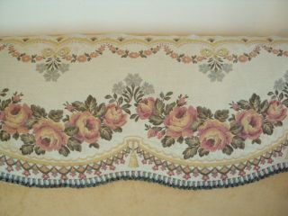 Vintage French Tapestry Fabric Pelmet photo