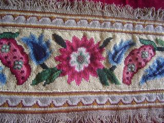 Antique Silk And Wool Needlework 1 Yard photo