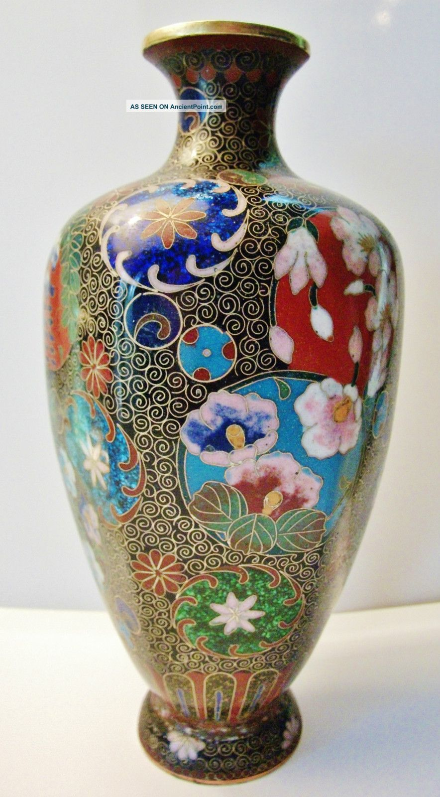 Chinese Antique Cloisonne Vase - Excellent Craftsmanship - Great Quality Boxes photo