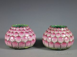 A Pair Stunning Fine Chinese Porcelain Bursh Washer photo