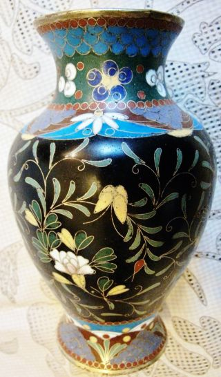 Antique Japanese Cloisonne Vase - Simple Detailed Beauty A Wonderful Meiji Jewel photo
