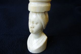 Antique Rare Faux Ivory Carved African Bust photo