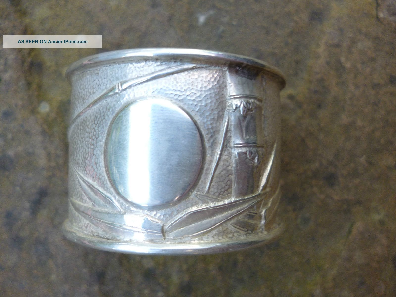 Fine Quality Chinese Silver Napkin Ring - Zee Wo,  Shanghai Circa 1900 Napkin Rings & Clips photo