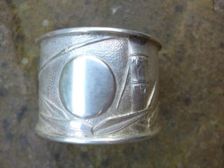 Fine Quality Chinese Silver Napkin Ring - Zee Wo,  Shanghai Circa 1900 photo