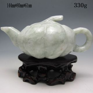 Chinese Jadeite Jade Teapot W Lid Nr/xb1931 photo