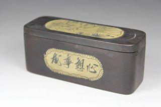 Chinese Handwork Wood Belle Flower Old Jewel Case photo