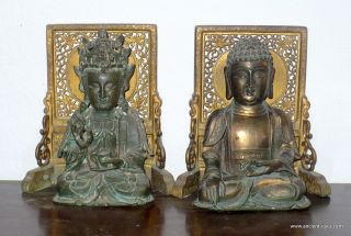 Chinese Ming Bronzes: Buddha And Guanyin - Avolokitesvara photo