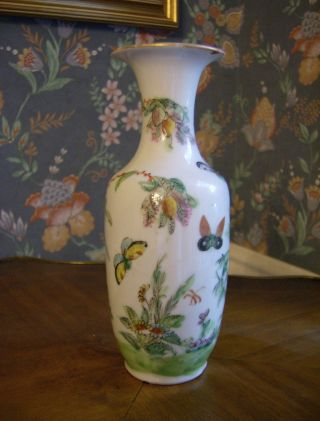 Yongzheng Vase Of Period - Absolutely Gorgeous Porcelain - Rare photo