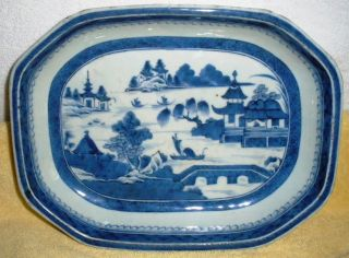 Chinese Export Cantonese Small Platter - Blue And White photo