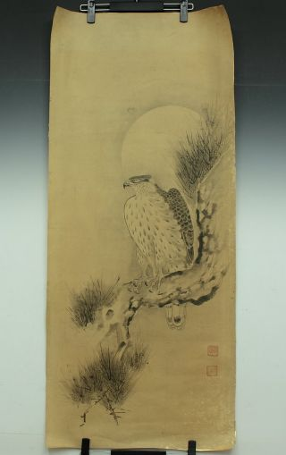 Jiku893 Jf Japan Makuri Scroll Soga Nichokuan Hawk photo