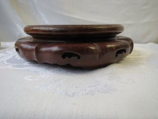 Antique Chinese Rose Wood Display Plate,  Bowl,  Vase Or Lamp Stand For Lamps Nr photo