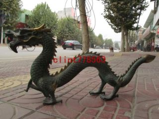 Chinese Exquisite Bronze Dragon Play Bead Sculpture 300 photo