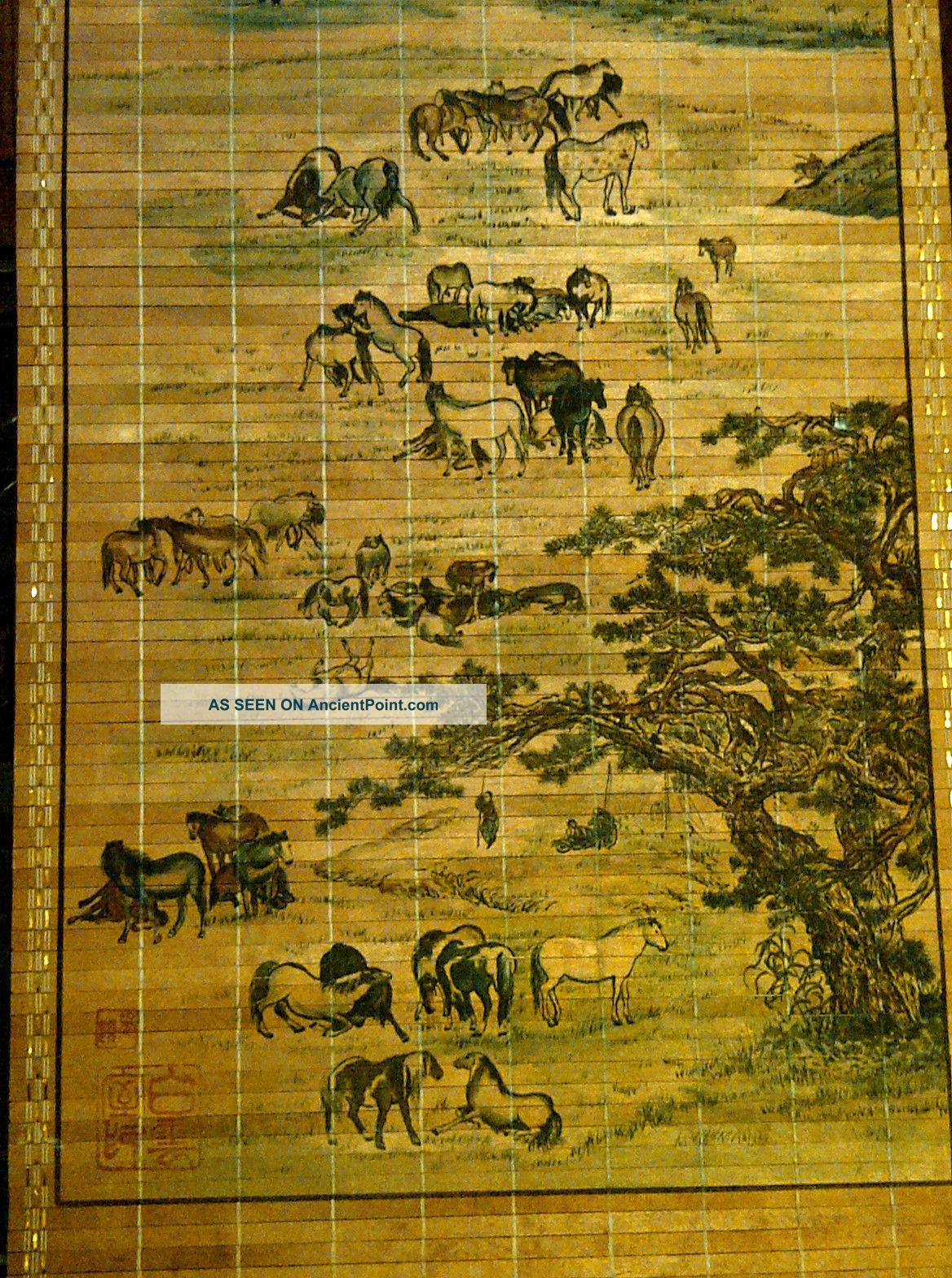 Authentic Chinese/japanese Antique Hanging Scroll Bamboo