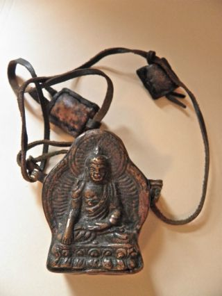 Old Akshobhya Buddha Gau From Bhutan photo