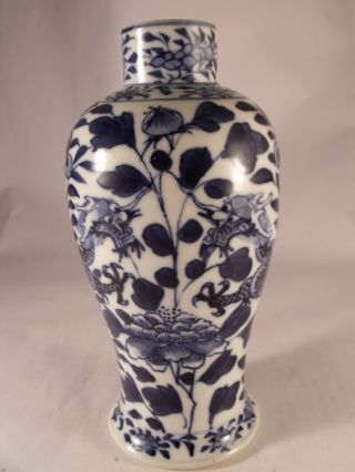 A Good C19th Chinese Porcelain Vase Painted In Blue - One Of Pair photo