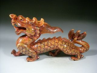 Excellent Carving Old Xiu Jade Dragon 1185g photo