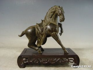 Noble Chinese Tang Bronze Horse Statue 9