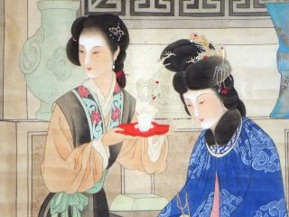 Chinese Hanging Scroll 0660 Tea Party photo