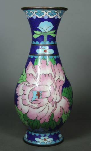 Oriental Vintage Closionne Wonderful Handwork Flower Vase ☆☆☆☆☆ photo