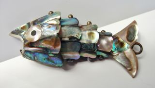 An Antique Articulated Abalone Handcrafted High Quality Chinese Fish photo
