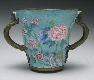 Charming Chinese Peking Enamel Loving Cup photo