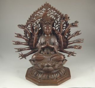 Chinese Copper Statue - Thousands Hands Kwan - Yin Nr 6.  52lbs photo