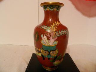 Antique Chinese Cloisonne Vase photo