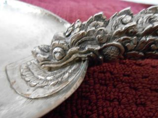 17th Imperial Chinese Sterling Silver Dragon Giant Spoon 270gr Rare photo